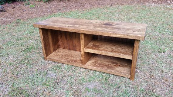 Mudroom Storage Bench by CoastalOakDesigns on Etsy