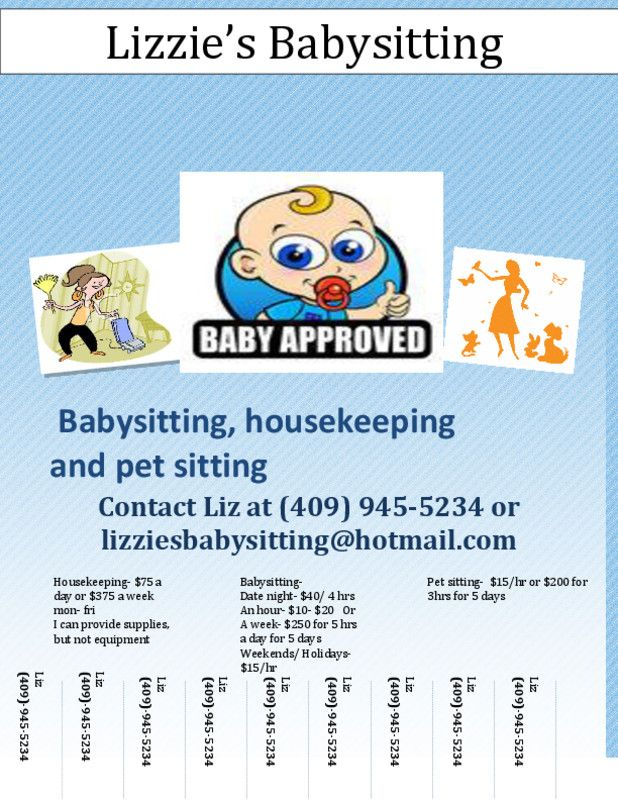 advertise babysitting services free