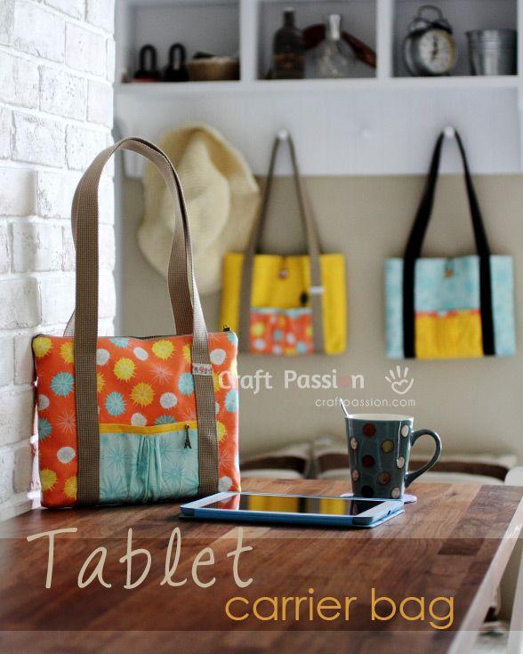 Tablet carrier bag tutorial
