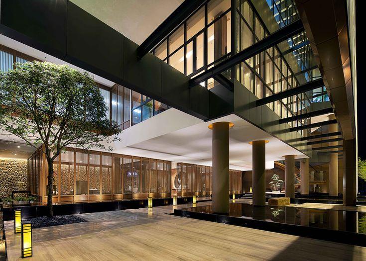 Inside World Festival of Interiors 2014 announces awards shortlist – Zen Resort & Spa Sales & Exhibition Center, Yichun, China, Taiwan by DaE International Design Career.