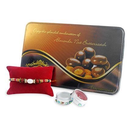 Assorted Chocolates & Rakhi Hamper