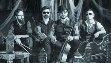 """Django 3000, the casual grooving desperados from the Chiemgau, like it """"wuid and loud"""". Gipsy-Disco calls the quartet its seething sound mix, with which it has already brought the dance floors from the Urals to the Glemmtal to the quake Django 3000 Bergfestival 2016 Rock music Festival in the Austrian Mountains. 2-4th December 2016"""