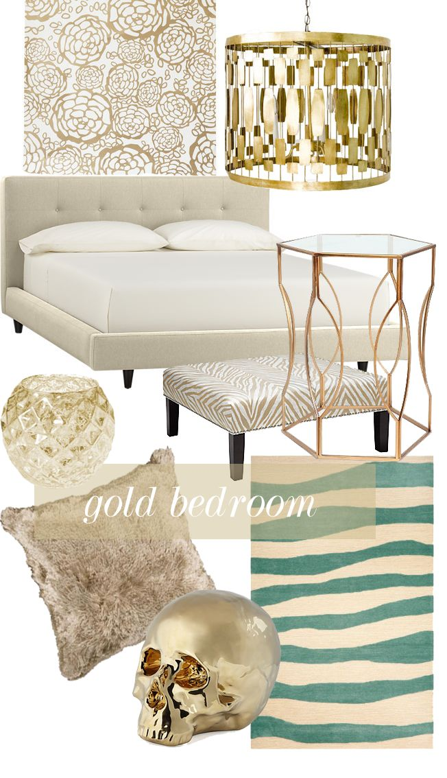 Gold Bedroom Love The Accents.