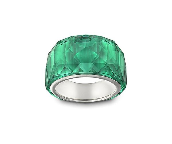 Sortija petite 'Nirvana' de Swaroski en Emerald