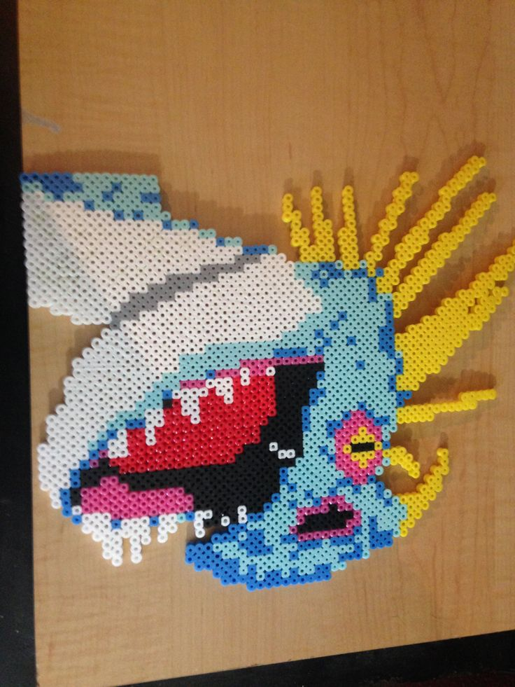 How To Train Your Dragon - Stormfly Head perler beads (11.5 in by 9.5 in) by ExcildasCrafts