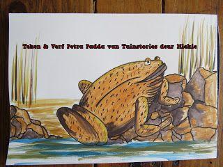 A Pretty Talent Blog: School Holiday Project 30: Teken & Verf Petra Padda (Draw & Paint Petra Frog)