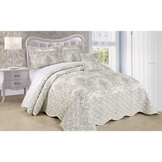 Shop for Serenta Damask 4-piece Bedspread Set. Get free delivery at Overstock.com - Your Online Fashion Bedding Outlet Store! Get 5% in rewards with Club O! - 18188911