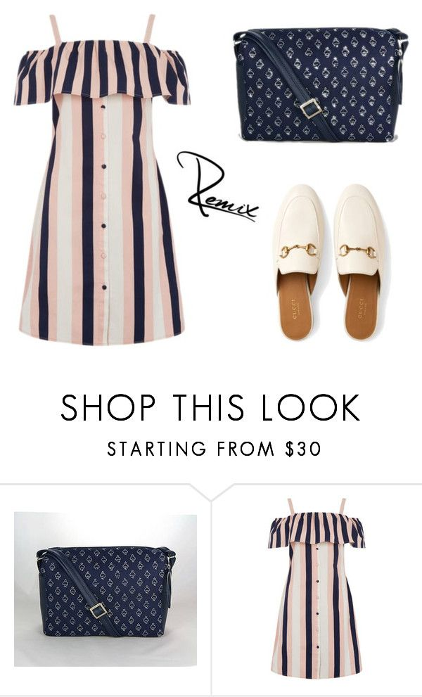 """""""Stripes"""" by aleva on Polyvore featuring Warehouse and Gucci"""