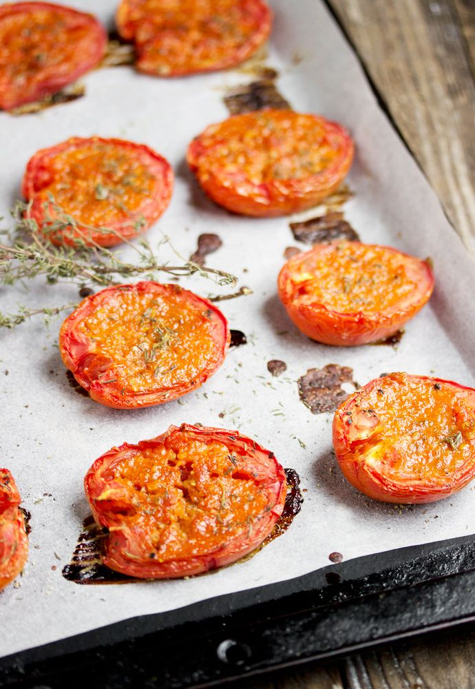 Candied Roma Tomatoes - a delicious way to enjoy summer tomatoes. Use in salads, pasta, pizza or sandwiches.