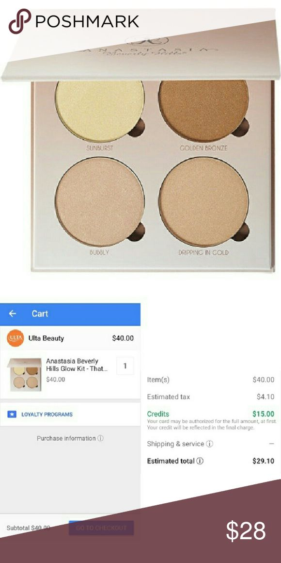 Anastasia Beverly hills glow kit This is a $15 OFF COUPON CODE POST!  Hey guys! I'm sharing an amazing deal that I found on Google express shopping???? They have stores like ulta, target, walgreens & more! Use code 5KK24949T you will get $15 off your first order (and if you sign up for a free trial membership that can be canceled anytime, you will get free shipping too!) This ABH GLOW KIT will only be $29.10 (with tax)!! This deal is too amazing to not share! Go treat yourself :) *this…