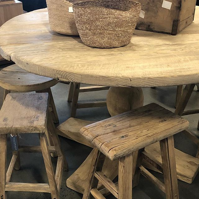 Rustic And Reclaimed Elm Dining Table Available In 1200mm And