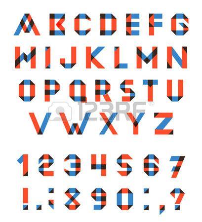 Vector conjunto del alfabeto de la fuente geométrica diversión. Fuente de vector con trazos superpuestos y colores mezclados. Modo de fusión Multiplicar.