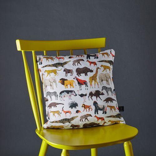Safari animals cushion