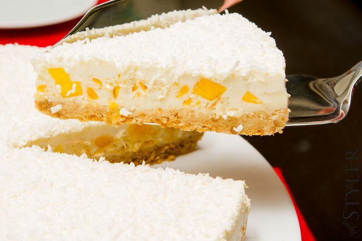 Łatwe i lekkie ciasto z mango bez pieczenia