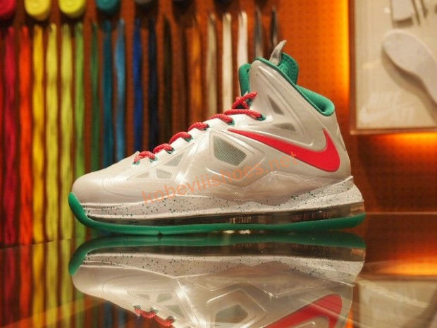 Basketball Shoes 10 Lebron James X White Sport Red Green
