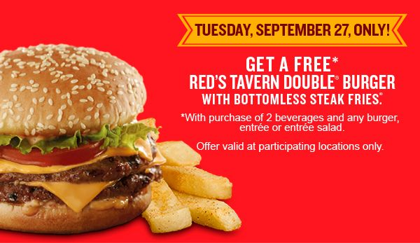Saving 4 A Sunny Day: Free Burge At Red Robin