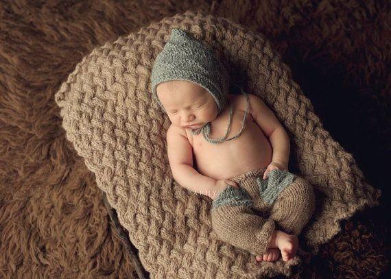 Barato Frete grátis, new Baby Crochet pixie hat com calças conjuntos de bebê Recém nascido fotografia prop tamanho: 0 1 m, 3 4 m, Compro Qualidade Conjuntos de roupas diretamente de fornecedores da China: Material: algodãotamanho: 0-1 meses do bebê3-4 m bebê instruções de cuidados: Lavar À Mão em água fria &