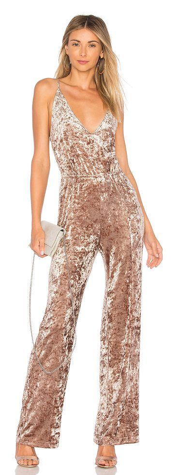 Cassandra Jumpsuit by BB Dakota. 95% poly 5% spandex. Hand wash cold. Adjustable shoulder straps. Elastic waist. Crushed velvet fabric. BBDA-WR80. BH403014. BB Dakota is an eclectic shake up of the modern girl. We believe that fashion is about self-expression and taking... #bbdakota #dresses