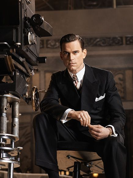 matt bomer get an exclusive first look at the last tycoon plaid martin o 39 malley and amazons. Black Bedroom Furniture Sets. Home Design Ideas