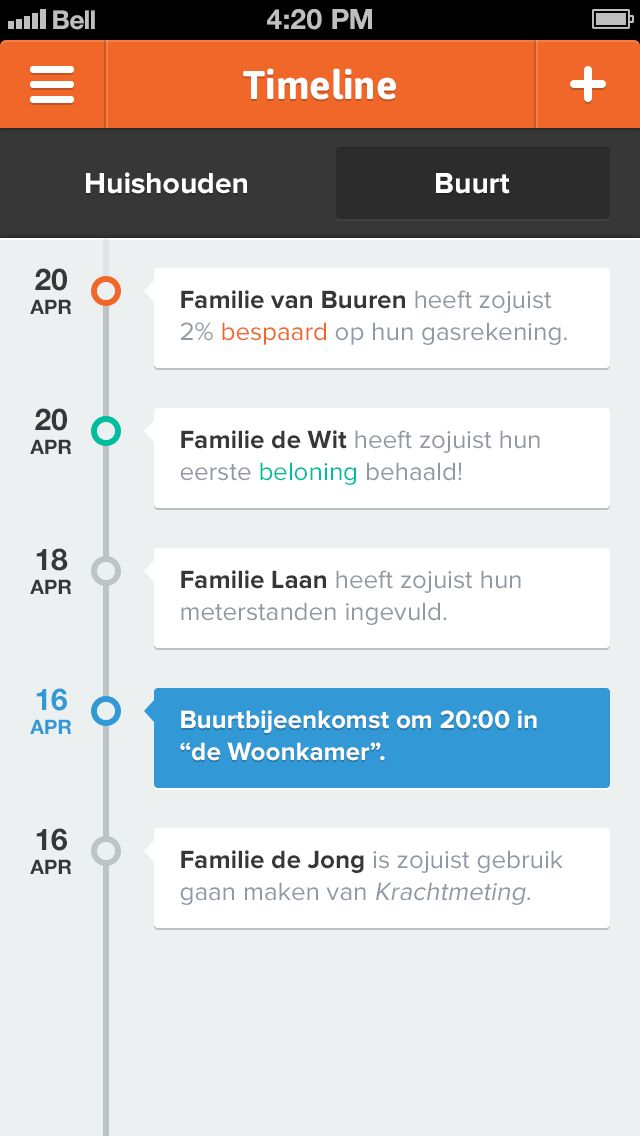 Krachtmeting app by Jeffrey de Groot, via dribbble.