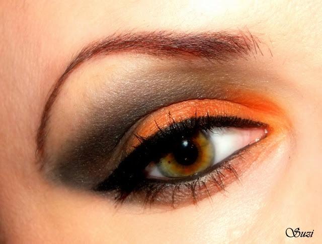 Pumpkin Eye Make Halloween Inspo