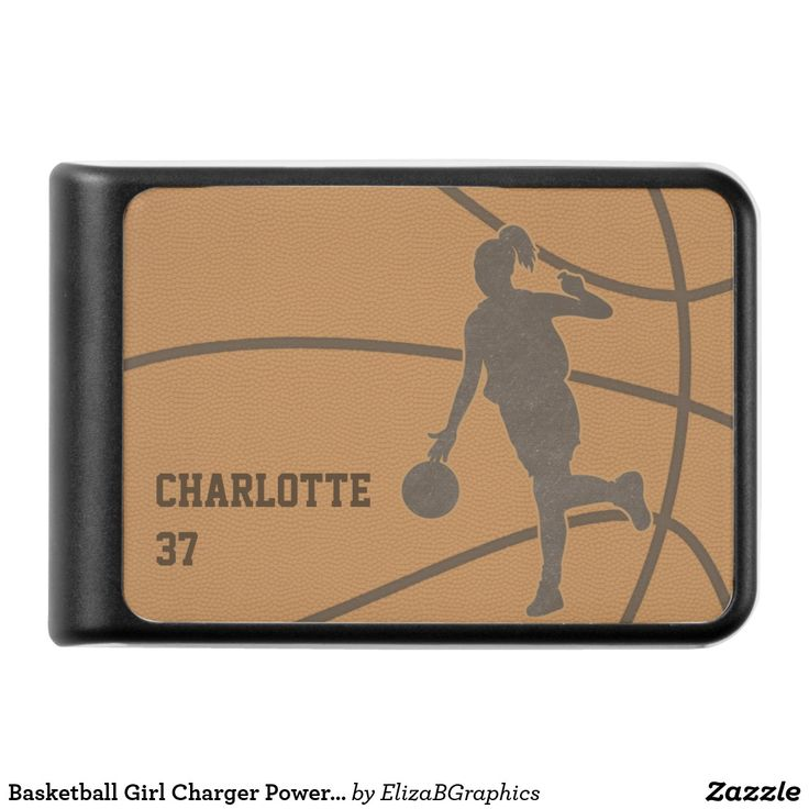 Basketball Girl Ladegerät Power Bank | Zazzle   – ✽ Support Small Businesses (Pin Exchange)