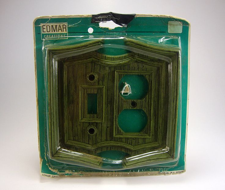 Vintage Combination Switch Plate, Faux Wood, Dark Green, Edmar Creations, Retro, 1970's, Renovations by myatticstreasures on Etsy https://www.etsy.com/listing/204700170/vintage-combination-switch-plate-faux