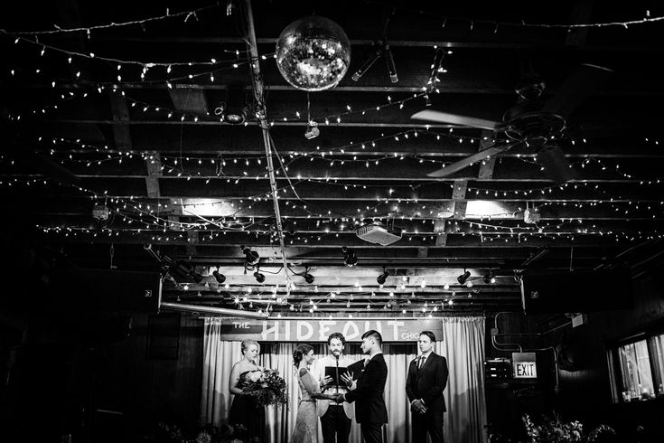 Wedding ceremony at The Hideout Chicago