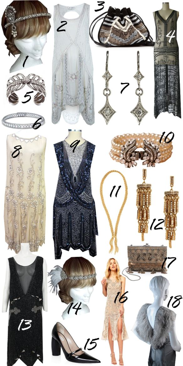 Another Gatsby Bridesmaid Collage I like! I love the 1920's so glam #SoLola