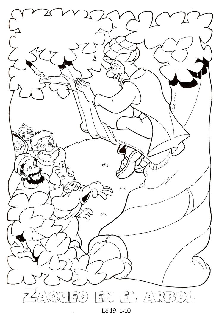 zaqueo coloring pages - photo #45