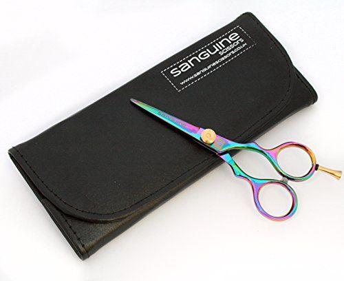 Professionelle Haarscheren, kleine Friseurschere, Titan 11,5cm, mit Etui