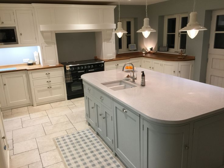 Flowing design wonderful handmade kitchens here @ English Country Furniture!