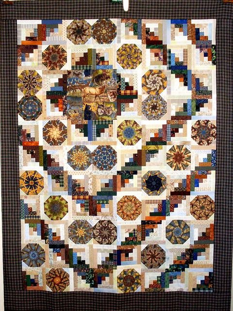 T-Call Of The Wild by Linda Rotz Miller Quilts & Quilt Tops, via Flickr