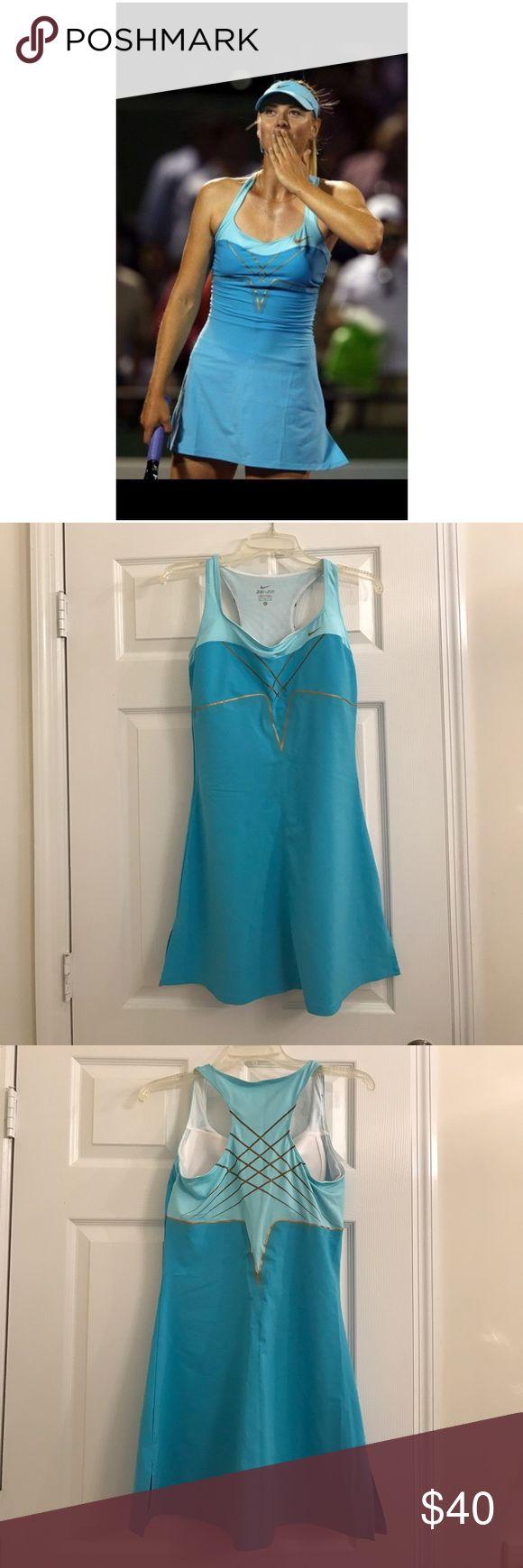 Maria sharapova miami open tennis dress Blue and gold miami open, comfortable tennis dress Nike Dresses Mini