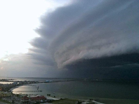 Hurricane Irene approaching New Jersey. Very cool shot....We are still flooding weeks later....