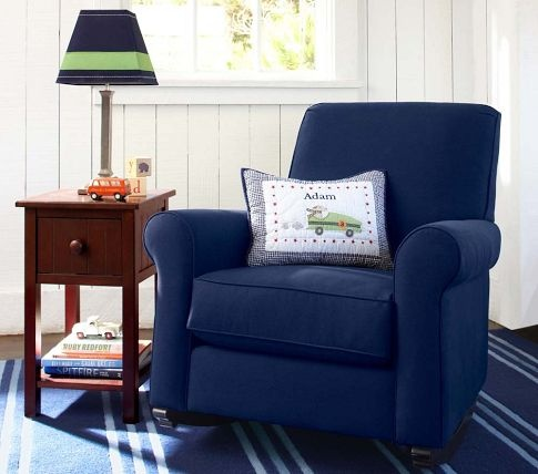 Simple Elegant Charleston Convertible Rocker & Ottoman Photos - Style Of modern blue chair For Your House
