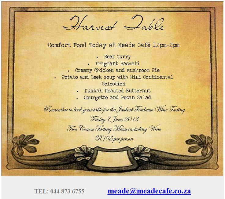 Newsletter: Harvest Table ( 05 June 2013 )