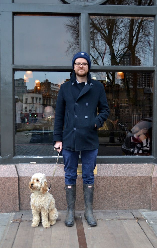 Doggy Street style - Ben and his Cockapoo Teddy in Shoreditch #streetstyle #dog #fashion #style
