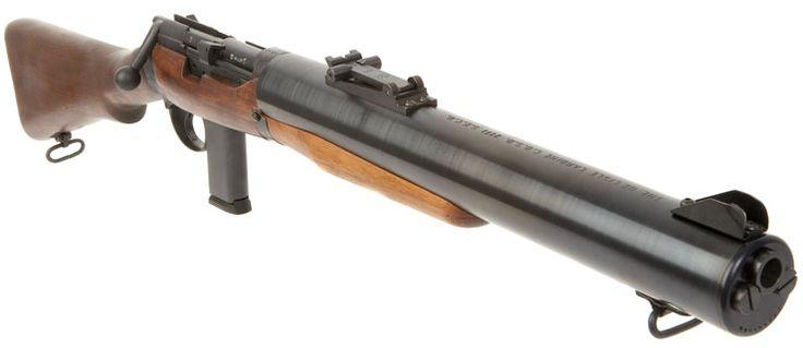 De Lisle Commando Carbine -designed for Commandos. Silencer built in.