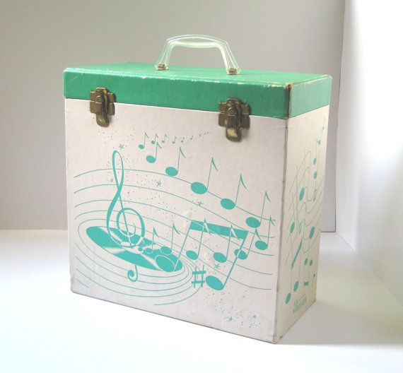 Vinyl Record Storage Box Vintage Platter Pak by TheVintageResource, $27.95