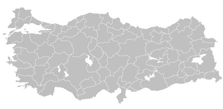 Turkey is subdivided into 81 provinces for administrative purposes. Each province is divided into districts, for a total of 923 districts. An estimated 75.5% of Turkey's population live in urban centres.