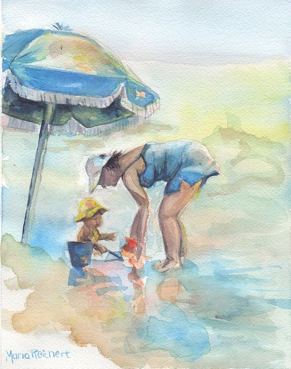 Hilton Head Island Sea Pines beach watercolor by mariaswatercolor, $65.00