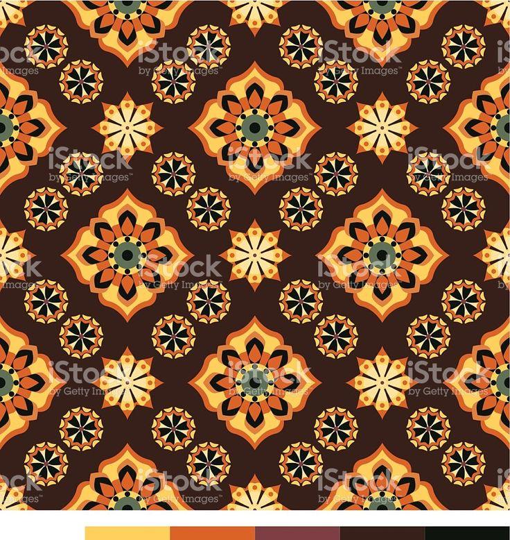 Бесшовные обои с цветочным узором — серия Сток Вектор Стоковая фотография
