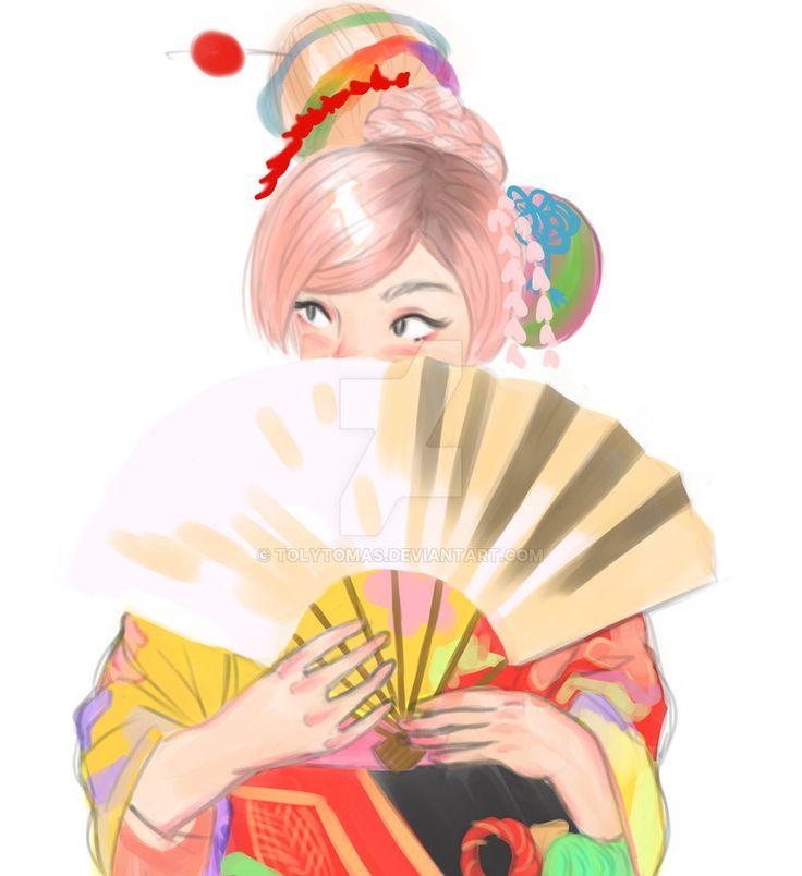 kimono color by tolytomas