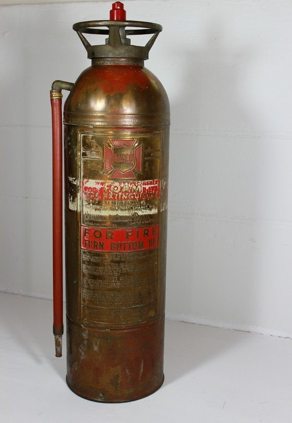 About Antique Cars Fire And Fire Extinguishers Vintage Copper Fire Extinguisher Alfco Model   Fire (Extinguishers ...