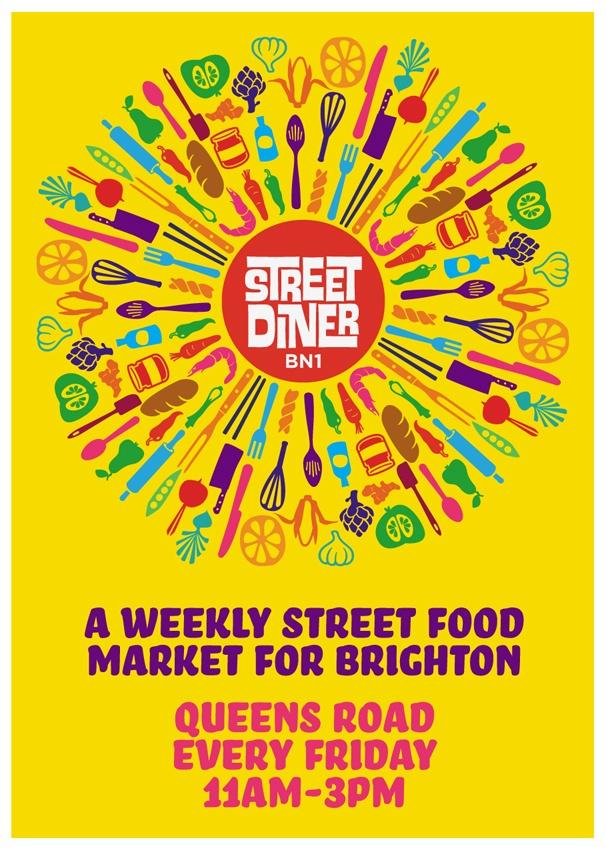 Brighton Street Diner - printed flyer