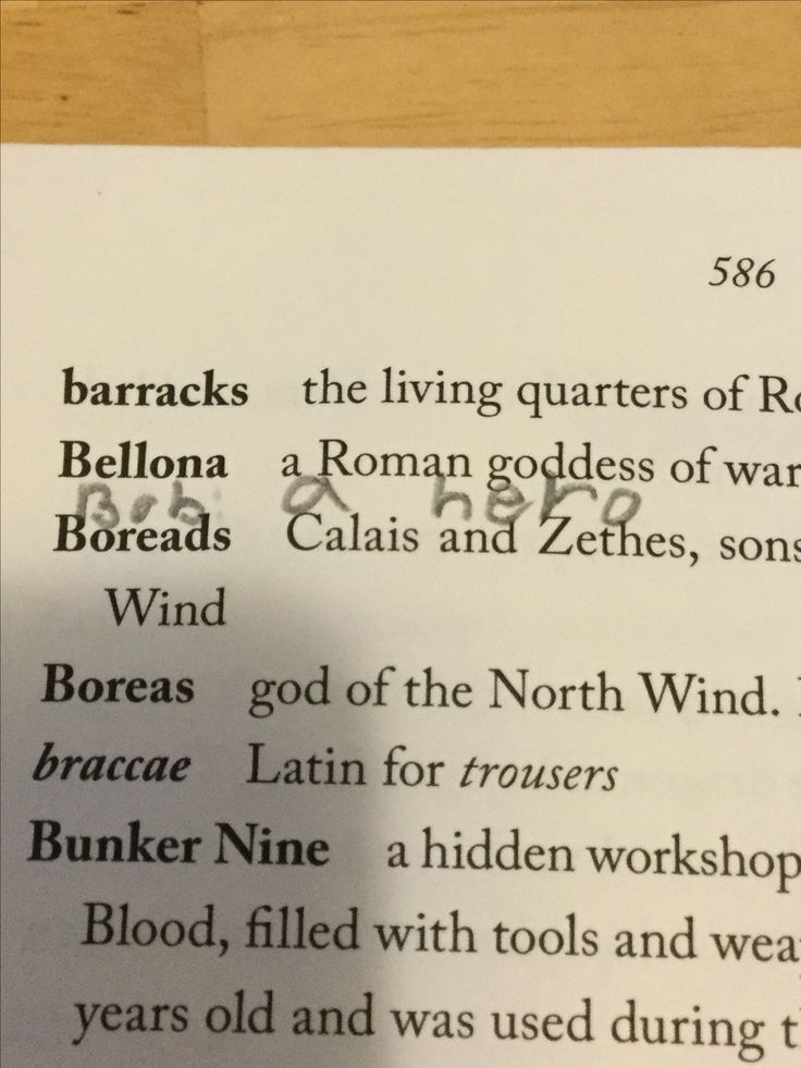 "Saw this in the glossary of the copy of the ""House of Hades"" that I borrowed from the library. Almost cried."