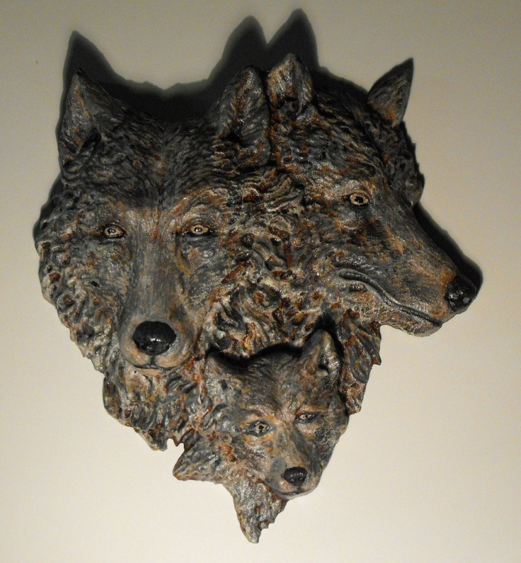 Wolf Wood Carving Pattern