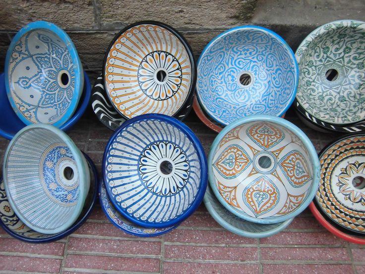 17+ beste afbeeldingen over Marokkaanse waskommen op Pinterest  Kranen, Tege # Wasbak Geel_212052