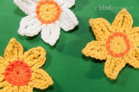 43 best Blumen basteln images on Pinterest | Stricken häkeln ...